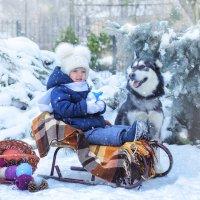 из зимней прогулки Александры с Лолой... :: Ксения Довгопол