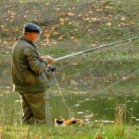 Мы с хозяином вдвоём много рыбки принесём :: Владимир Гилясев