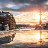 Золотится вечер :: Юлия Батурина