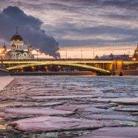 Лед на Москве-реке :: Юлия Батурина