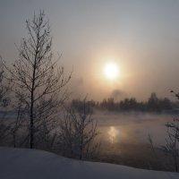 Опять туман на Ангаре... :: Александр Попов