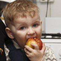 малыш и яблоко... :: Ирина