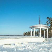 Пляж зимой.Беседка. :: Serge Serebryakov