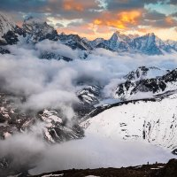 Оксана Гильман - Закат над Гималаями. Вид с пика Гокио Ри