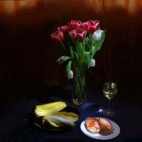 Бутерброд с красной рыбой :: Дубовцев Евгений