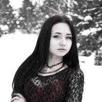 девушка,холод :: Inna Прибушаускайте