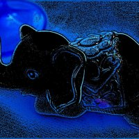 Слонёнок в синей ночи... :: Нина Корешкова