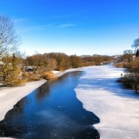 Река Каспля в феврале :: Милешкин Владимир Алексеевич