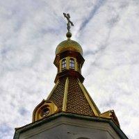 Купол церкви, крест и небо, а вокруг печаль полей... :: Валентина ツ ღ✿ღ
