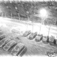 Зимняя ночь :: Владимир Сотман