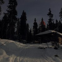 Ночью на таежной заимке :: Nikolay Zinoviev