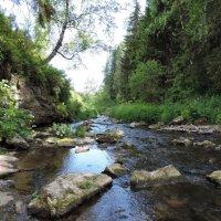 На Алтае. Речка после водопада :: Алёна Naru-chan