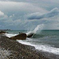 Шторм на море (п. Лазаревский) :: Анна Хохлова
