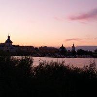 Купола церквей на закате. Город Чебоксары. :: Сергей Тагиров