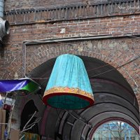 Нескучный дворик (серия) Про бирюзовый абажур :) :: Nina Yudicheva