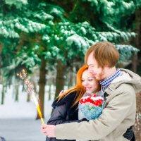 Женя и Дима в морозный день на прогулке в парке дружбы :: Тати Фокс