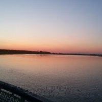 Закат на реке с борта корабля :: Сергей Тагиров
