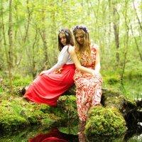 девушки на болоте :: Андрей Дружинин