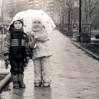 мы под зонтиком идём :: Ольга Белёва