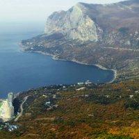 Мыс Ласпи с высоты плато основной гряды Крымских гор :: valeriy g_g