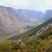 Перевал Кату-Ярык и спуск в долину реки Чулышман. :: Николай Воробьёв