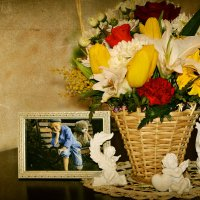 Корзиночка цветов..... :: Ирина Жеребятьева
