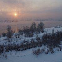 Вид с моста на Ангару утренней порой... :: Александр Попов