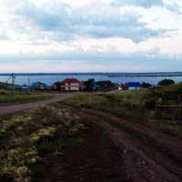 Посёлок на берегу Асылыку́ля :: Владимир Ростовский