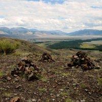 Вид с холмов на Курайскую степь :: Николай Воробьёв