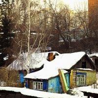 Маленький кусочек деревни в городе :: Павел Крутенко