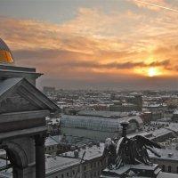 закат с крыши Исаакиевского Собора :: Елена