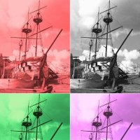 Четыре корвета различного цвета :: Дмитрий Никитин