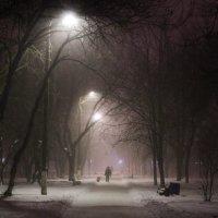 Туманный вечер :: Алёна Найдёнова