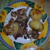 Рёбрышки и печеный картофель :: BoxerMak Mak