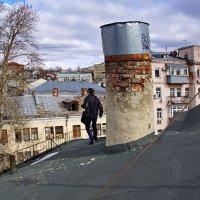 Москва. Вид с крыши Дома с Атлантами на ул.Солянка,7 :: Евгений Жиляев