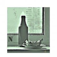 Натюрморт в бутылочном цвете :: Григорий Кучушев