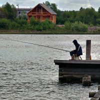 У города Каргополь на реке Онеге :: Валентин Кузьмин