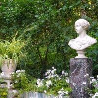 Скамья-памятник в память о Великой Княгине Александре Николаевне.(фрагмент) :: Лия ☼