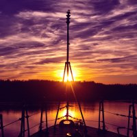 Закат с корабля :: Николай Леммер