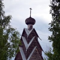 Деревянная церковь Иоанна Предтечи на погосте д. Ширково :: Светлана Ульянова