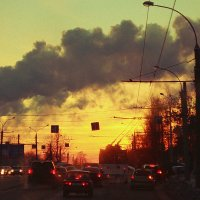 зимний закат в цивилизации :: Янка Мнямка