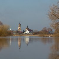 Весенний разлив р. Тёша в Арзамасе Нижегородской области :: Роман Царев