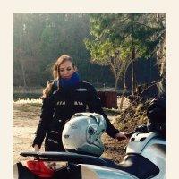 Моя внучка Ника, байкер. Она любит быструю езду на мотоцикле :: Валентина (Panitina) Фролова
