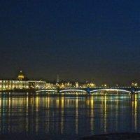 Троицкий мост ночью :: Елена