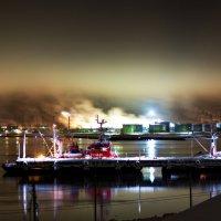 Зимняя ночь в порту г.Мурманск вид с пос.Дровяное :: Elena Kovach