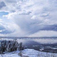 Ледоход в Архангельске :: Виктор Заморков