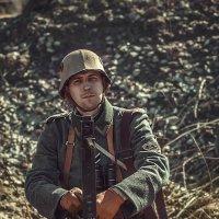 Немец , первой мировой за пулемётом Максима :: Виктор Седов