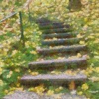 Осенние ступеньки... :: Tatiana Markova
