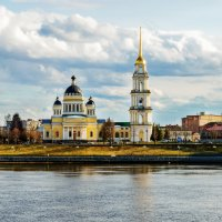 Город Рыбинск, Спасо-Преображенский собор :: Nadia Brusnikova