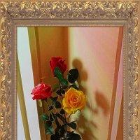 Напольная ваза с розами :: Nina Yudicheva